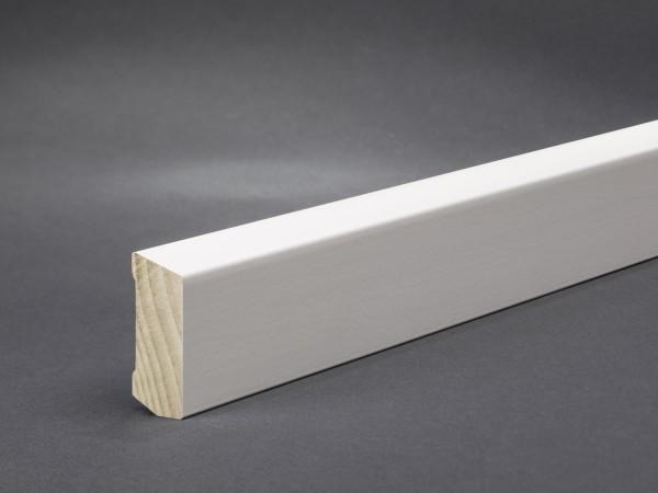 Massivholz weiß lackiert 40x16 mm Oberkante abgeschrägt
