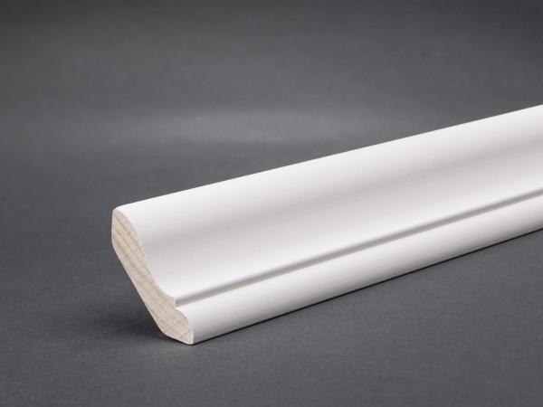 Massivholz weiß lackiert 30x30 mm Hohlkehlleiste
