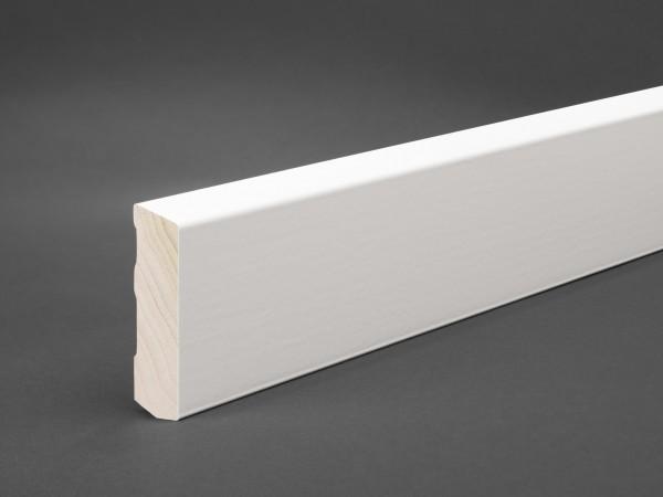 Massivholz weiß lackiert 60x16 mm Oberkante abgeschrägt