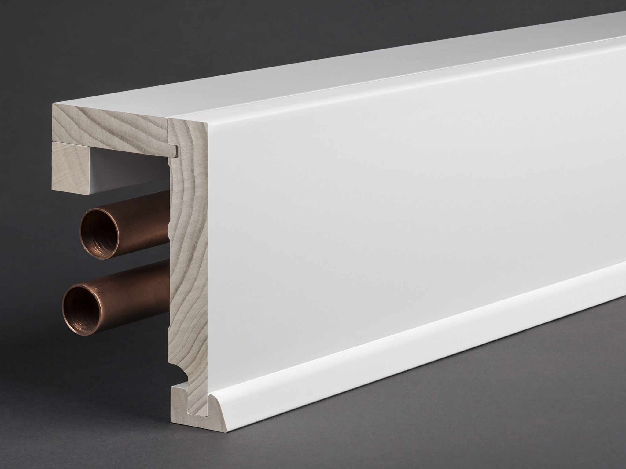 massivholz wei lackiert 85x89 mm rohrabdeckleiste. Black Bedroom Furniture Sets. Home Design Ideas