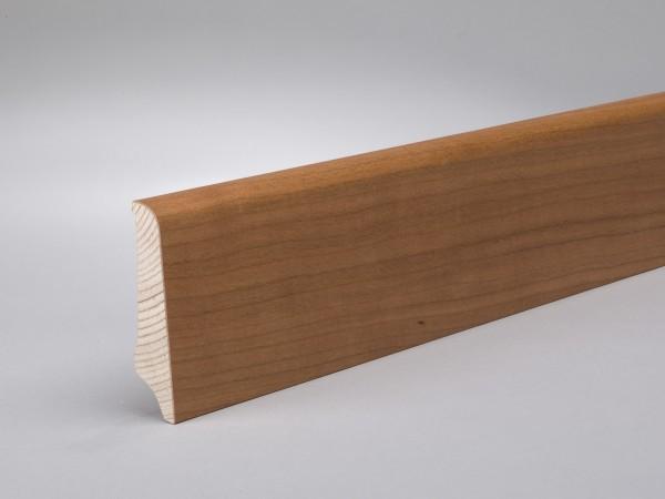 Kirsche (Furnier) 60x15 mm lackiert Oberkante abgerundet