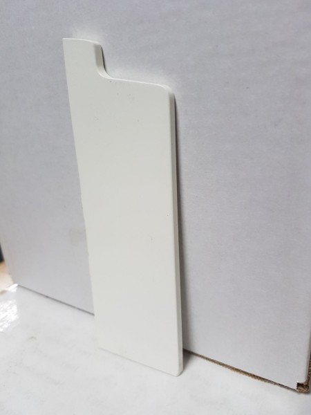 Massivholz weiß lackiert Endkappe 158x50 mm Rohrabdeckleiste