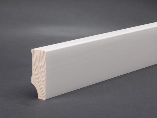 Massivholz weiß lackiert 40x15x2400 mm Oberkante gerade