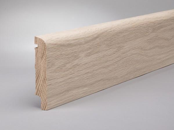 Eiche weiß (Optik) 100x20 mm Oberkante abgerundet