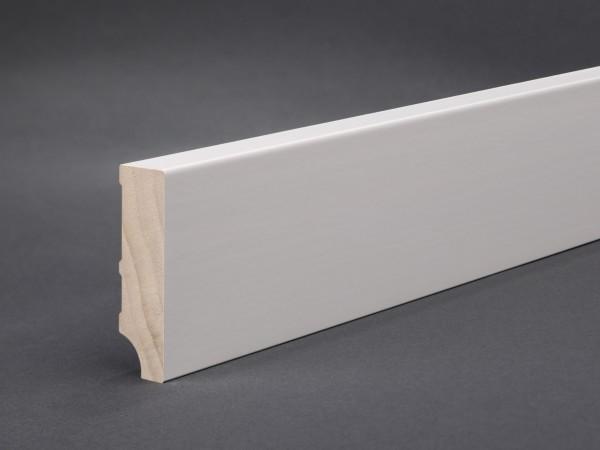 Massivholz weiß lackiert 60x16 mm Oberkante gerade