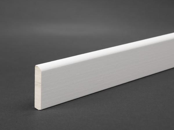 Massivholz weiß lackiert 28x5 mm Deckleiste