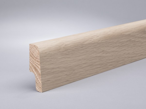 Eiche weiß (Optik) 60x20 mm Oberkante abgerundet/konisch