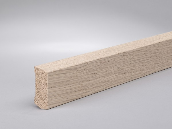 Eiche weiß (Optik) 40x16 mm Oberkante abgeschrägt