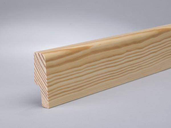 Kiefer 60x20 mm Oberkante abgerundet/konisch