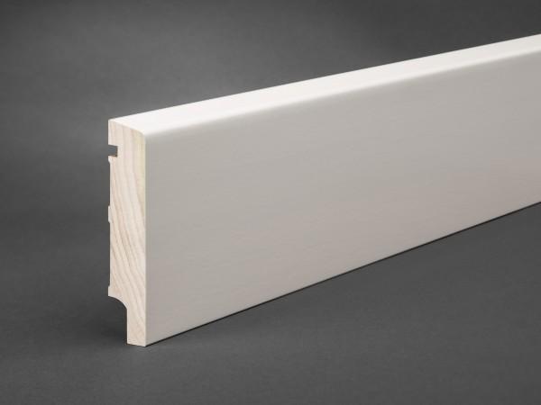 Massivholz weiß lackiert 95x20 mm Oberkante abgeschrägt