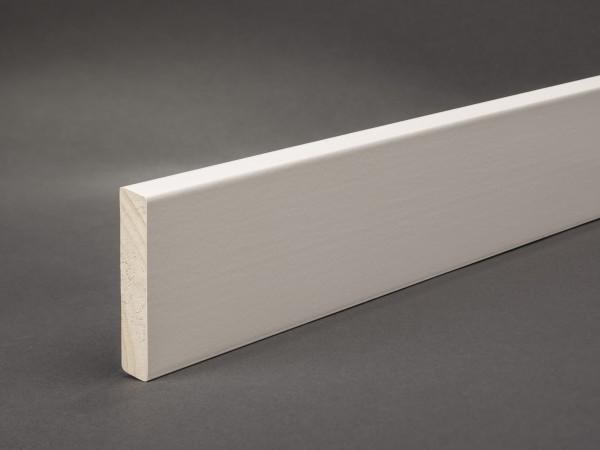 Massivholz weiß lackiert 60x11 mm Oberkante abgeschrägt