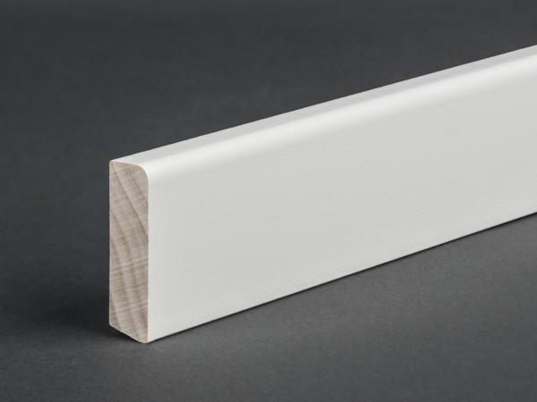 Massivholz weiß lackiert 35x10 mm Deckleiste