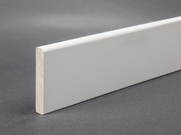 Massivholz weiß lackiert 35x6 mm Deckleiste
