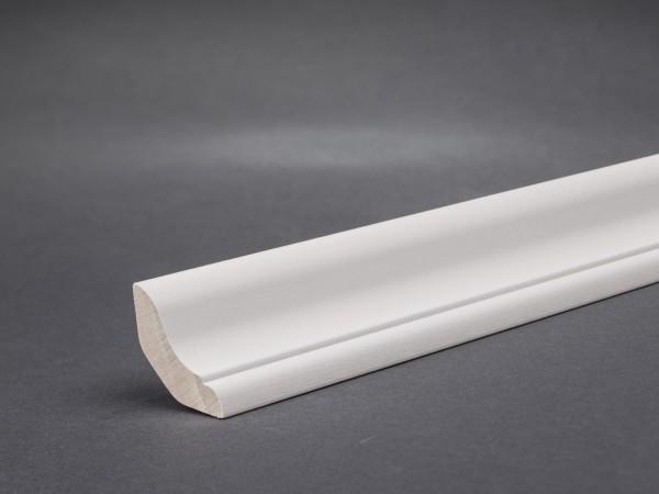 Massivholz weiß lackiert 25x25 mm Hohlkehlleiste