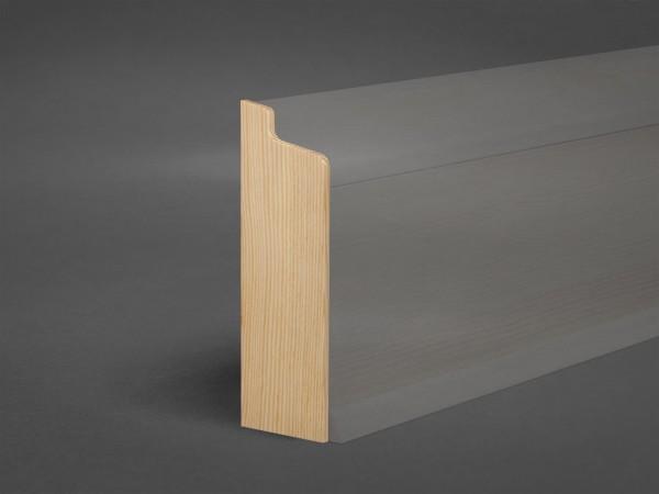 Kiefer Endkappe 158x50 mm Rohrabdeckleiste