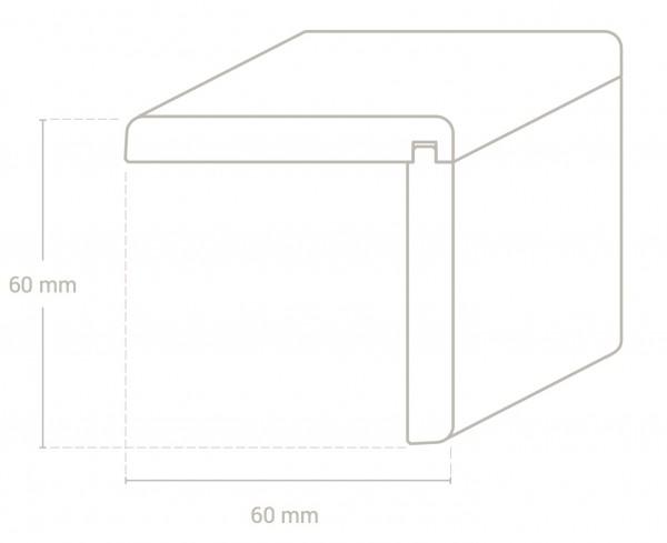 Kiefer 58x58 mm Winkelleiste