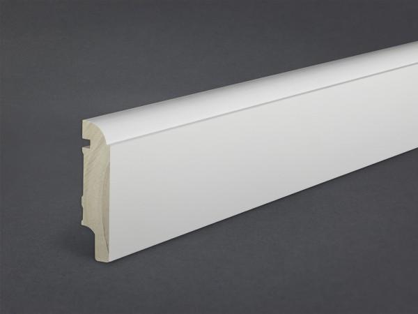 Massivholz weiß lackiert 80x19 mm Oberkante profiliert