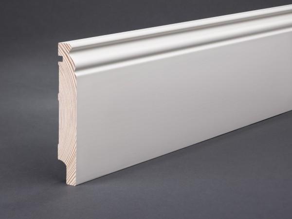 Massivholz weiß lackiert 118x19x2400 mm Berliner-/Hamburger Profil