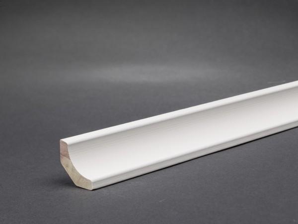 Massivholz weiß lackiert 20x20 mm Hohlkehlleiste