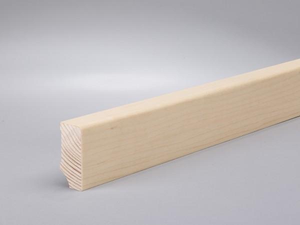 Ahorn (Furnier) 40x16x2400 mm lackiert Oberkante gerade