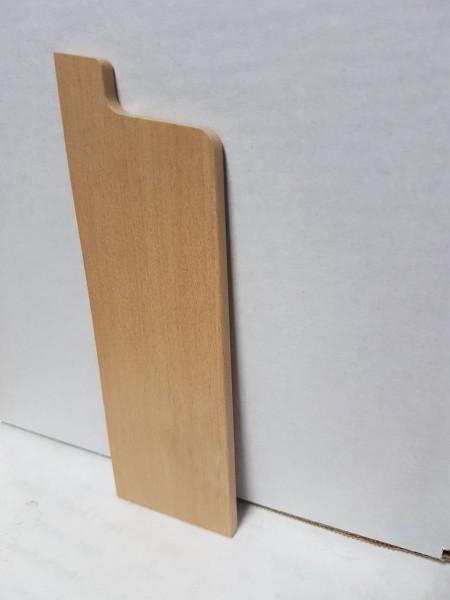 Buche Endkappe 158x50 mm Rohrabdeckleiste