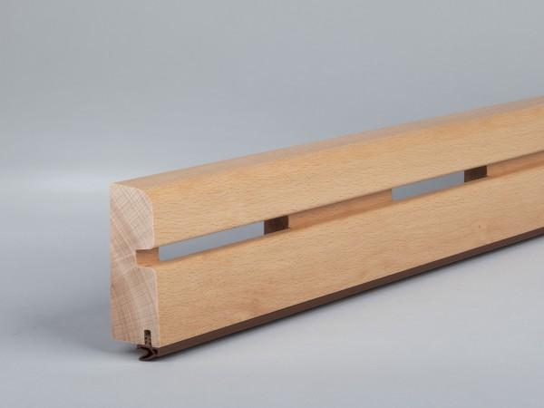 Buche 70x28 mm Oberkante abgerundet mit Lüftungsschlitzen/Gummilippe lose