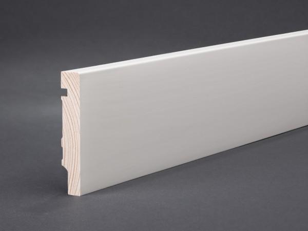 Massivholz weiß lackiert 78x15x2400 mm Oberkante gerade