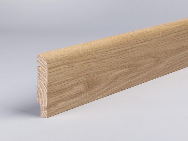 Eiche 80x16 mm Oberkante abgerundet