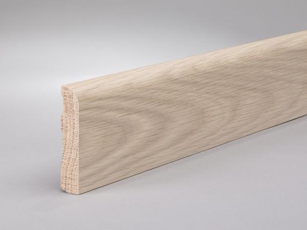 Eiche weiß (Optik) 60x13 mm Oberkante abgerundet