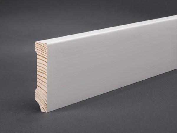 Massivholz weiß lackiert 60x13x2400 mm Oberkante gerade