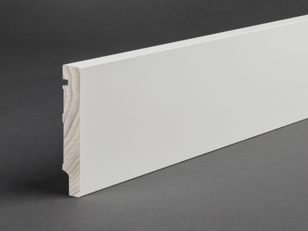 Massivholz weiß lackiert 100x16 mm Oberkante gerade