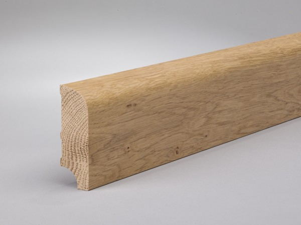 Asteiche 60x20 mm Oberkante abgerundet