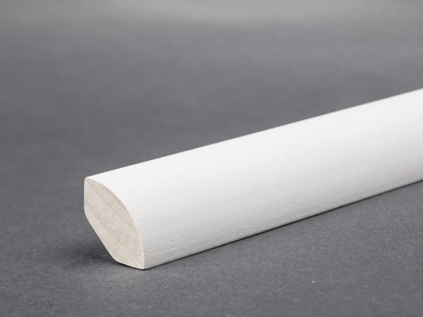 Massivholz weiß lackiert 20x20 mm Viertelstab