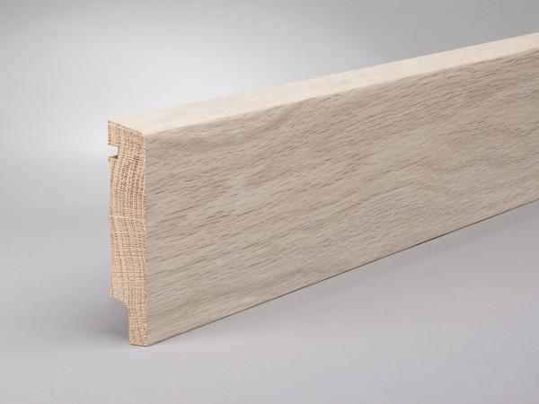 Eiche weiß geölt 100x20 mm Oberkante abgeschrägt