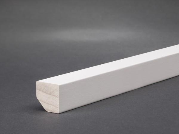 Massivholz weiß lackiert 18x18 mm Oberkante gerade
