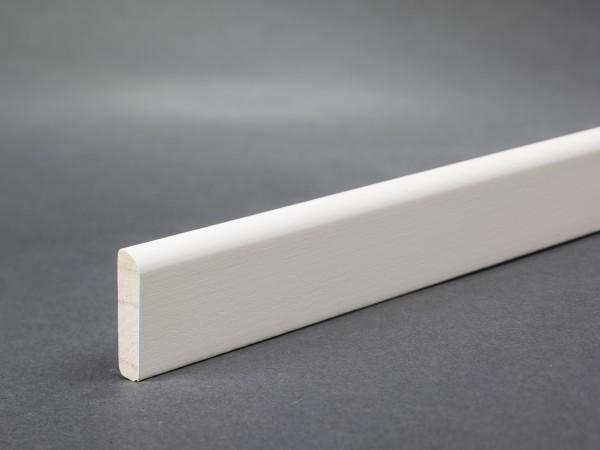 Massivholz weiß lackiert 23x5 mm Deckleiste