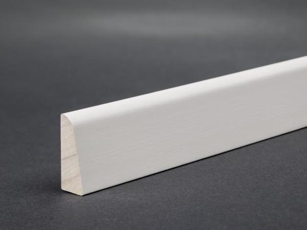 Massivholz weiß lackiert 23x8 mm Deckleiste