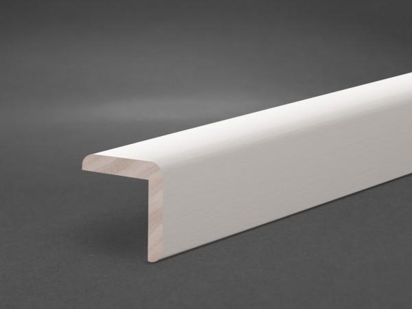 Massivholz weiß lackiert 28x28 mm Winkelleiste