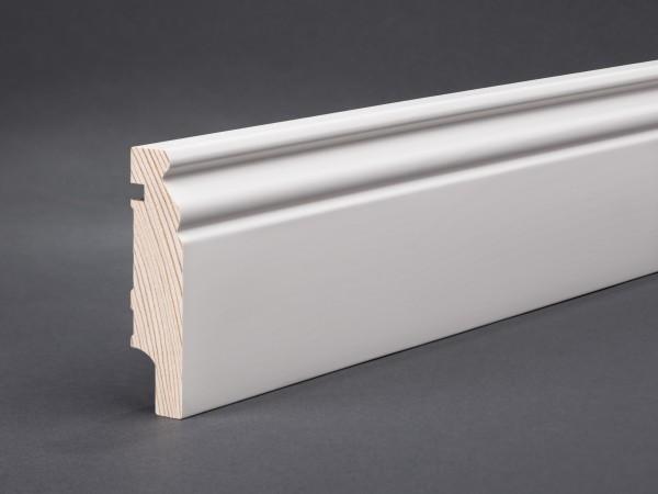 Massivholz weiß lackiert 78x19x2400 mm Berliner-/Hamburger Profil