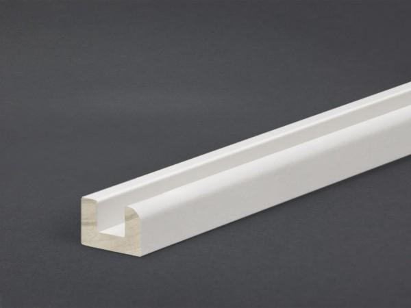 Massivholz weiß lackiert 15x22 mm Montageleiste Boden
