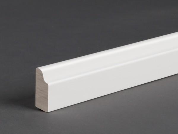 Massivholz weiß lackiert 25x9 mm Deckleiste
