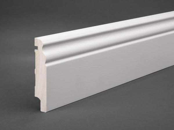 Massivholz weiß lackiert 100x20 mm Berliner-/Hamburger Profil
