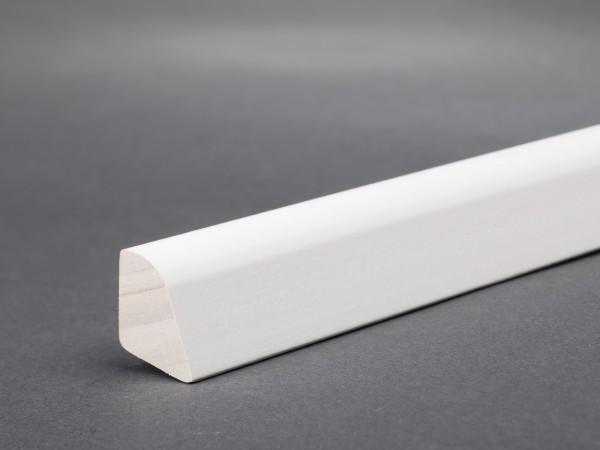 Massivholz weiß lackiert 18x14 mm Viertelstab