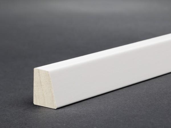 Massivholz weiß lackiert 18x14 mm Deckleiste