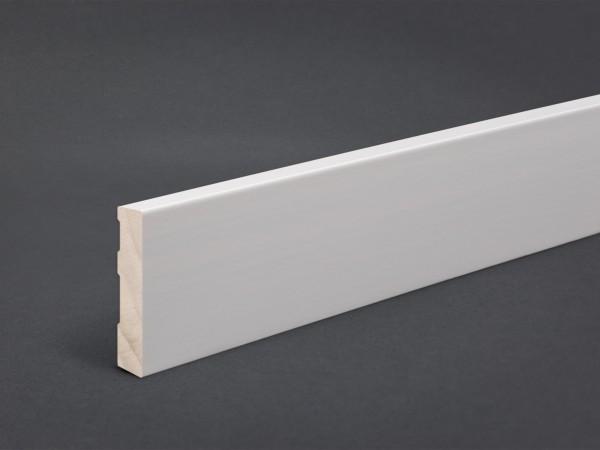 Massivholz weiß lackiert 60x10 mm Oberkante gerade