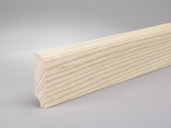 Esche lackiert 60x16 mm Oberkante abgerundet