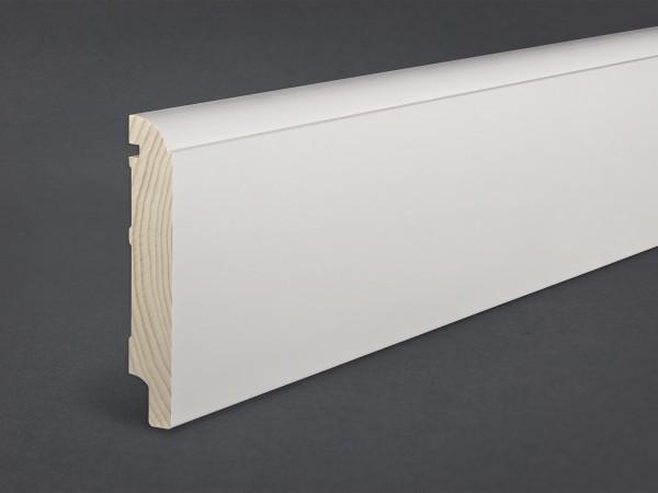 Massivholz weiß lackiert 120x19 mm profiliert