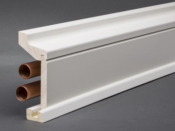 massivholz mdf wei lackiert 115x59 mm rohrabdeckleiste oberkante profiliert fu leisten welt. Black Bedroom Furniture Sets. Home Design Ideas