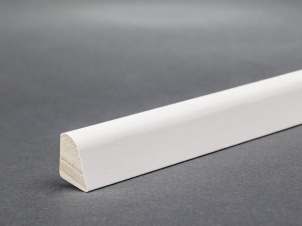 Massivholz weiß lackiert 15x9 mm Deckleiste