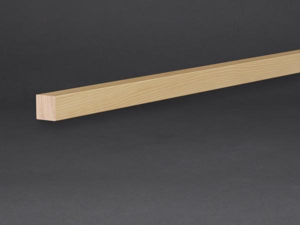 Massivholz unbehandelt 15x15 mm Montageleiste Wand